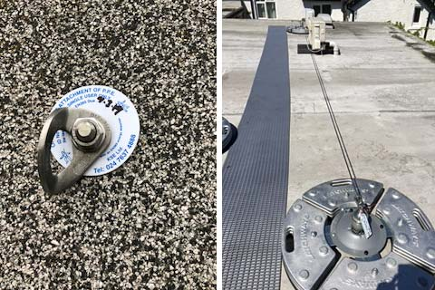Safety eye bolts, and mansafe installation